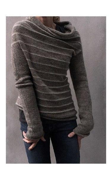 Оригинальный пуловер спицами. Обсуждение на LiveInternet - Российский Сервис Онлайн-Дневников