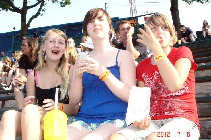 my daughter, her friends and i when Marianas Trench performed in Vancouver at Playland in 2012