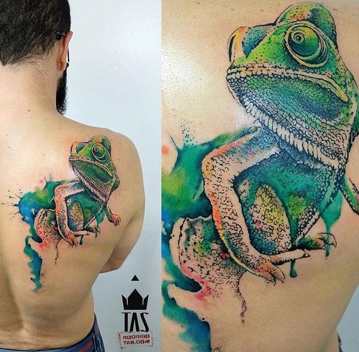 Rodrigo Tas chameleon Tattoo