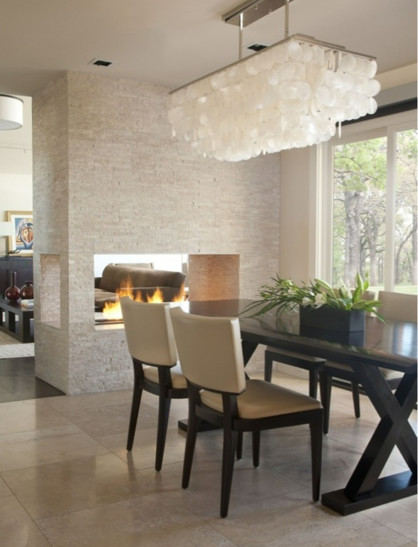 10 images about double sided fireplace on pinterest for Open sided fireplace