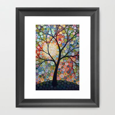 Waiting For the Moon Framed Art Print by Amy Giacomelli - $33.00
