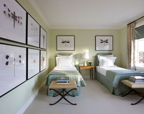 I would love to be a guest in this room!   25 Cool Guest Bedroom Decorating Ideas | Shelterness