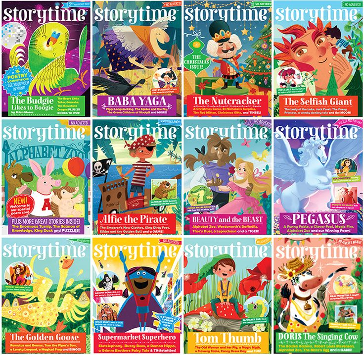 A whole year of Storytime magazine covers from talented illustrators. Which one is your favourite? ~ STORYTIMEMAGAZINE.COM