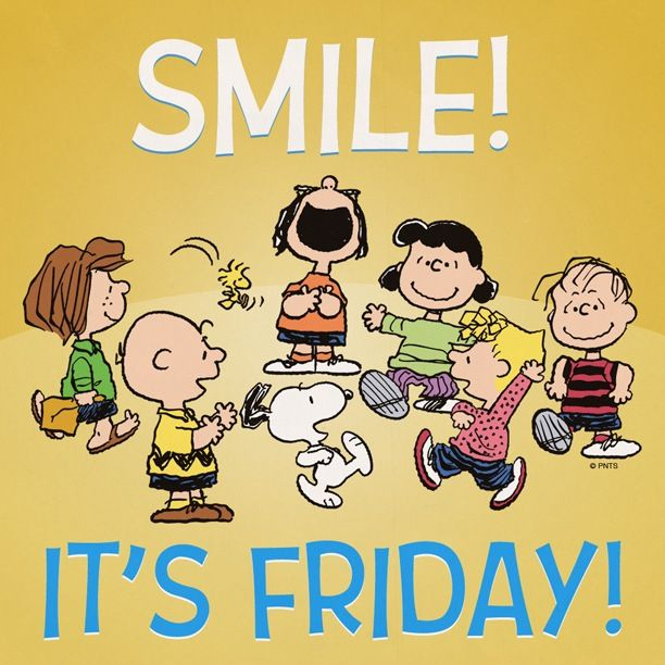 Happy Friday from the Peanut gallery! | Snoopy & Peanuts | Pinterest