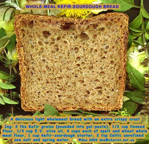 Whole meal kefir sourdough bread