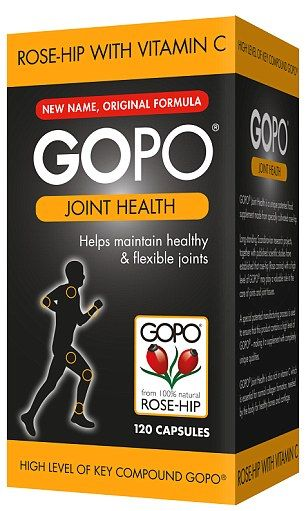 GOPO Joint Health is the only product of its kind to contain GOPO - a key component of the rose hip, which is thought to ease joint pain