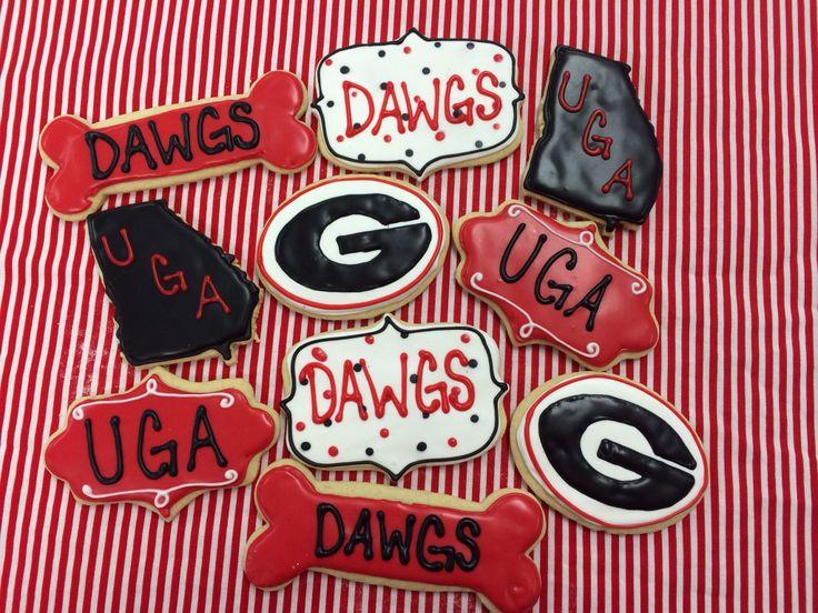 Georgia Bulldog Cookies Cookies Football Cookies