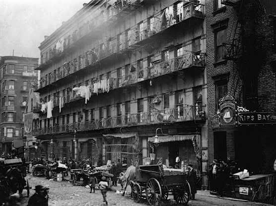 London Tenement. Over-population led to a huge gulf between the classes and much starvation.