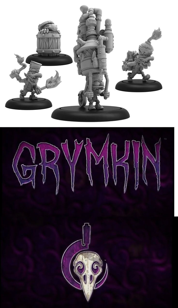 Other Warmachine and Hordes 168257: Hordes Grymkin Mad Caps Weapon Crew -> BUY IT NOW ONLY: $35 on eBay!