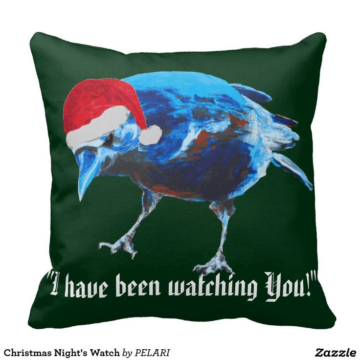 Christmas Night's Watch Throw Pillow