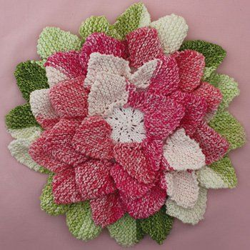 Knit Hot Pad Pattern : How to Knit Flowers: 13 Easy Knitting Patterns Knit Flowers, Hot Pads and F...