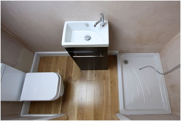 Compact space for shower room