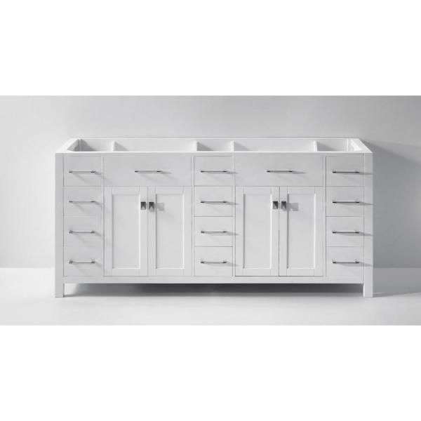 Virtu Usa Caroline Parkway 72 In W Bath Vanity Cabinet Only In White Md 2172 Cab Wh The Home Depot Bathroom Vanity Base Bathroom Vanities Without Tops 72 Bathroom Vanity 72 in bathroom vanity