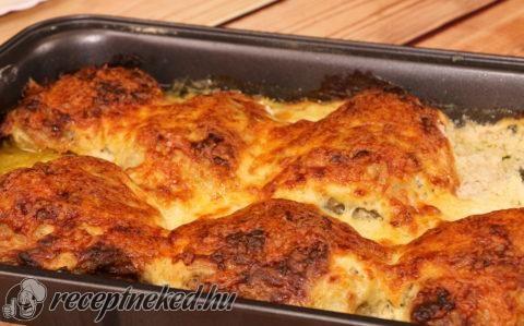 Tepsis csirkecomb recept