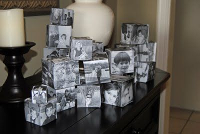 Photo cubes - really clever ... see the way they use them in an Apothocary jar.