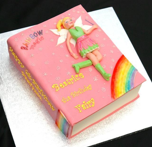 Savannah would love this!  Rainbow Magic Fairy cake.