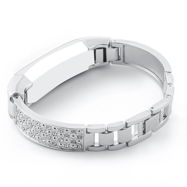 SILVER STEEL RHINESTONE Small Wristband Band Strap Bracelet For FITBIT ALTA & HR   eBay (scheduled via http://www.tailwindapp.com?utm_source=pinterest&utm_medium=twpin&utm_content=post153557213&utm_campaign=scheduler_attribution)