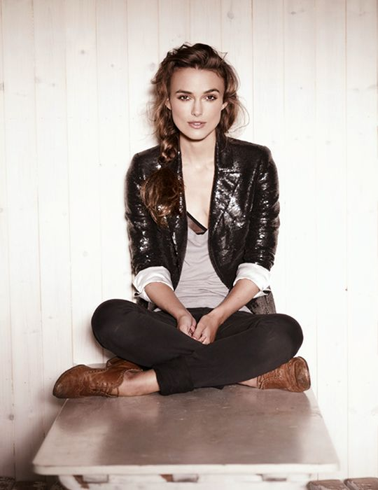 Keira Knightley. DUDE MY LOVE FOR THIS LOOK IS ALMOST MORE THAN MY LOVE FOR THEO JAMES