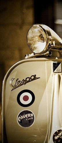 Vespa with sticker