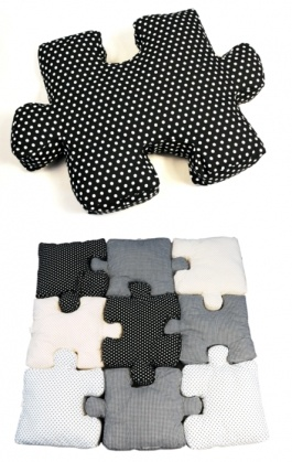 I want to learn how to make this. Some one do a tutorial please!: Pillows Puzzles, Puzzles Pillows, Sewing, Ideas, Puzzle Pillows, Floors Pillows, Diy, Crafts, Kids Rooms