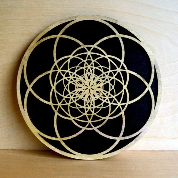 Fibonacci Seed of Life Wall Art Sacred Geometry by LaserTrees
