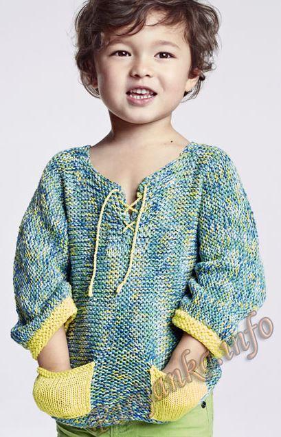 Пуловер (д) 13*109 Phildar №4830