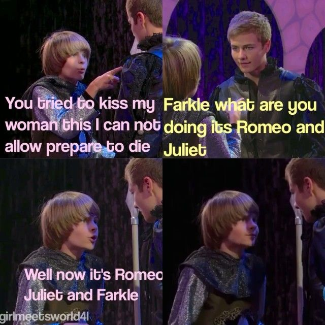 farkle girl meets world quotes Girl meets world is a teen sitcom on disney channel, a sequel to the 1990s sitcom boy meets world tagline: 119 episode 19girl meets farkle's choice.