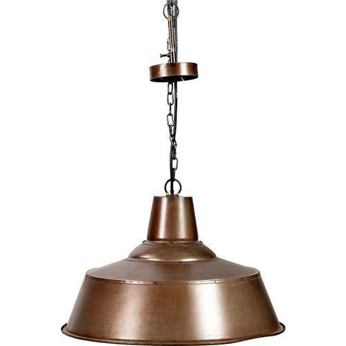 Deckenlampe in genietetem Kupfer