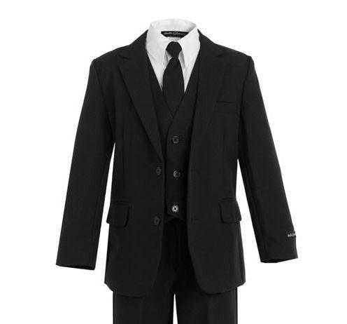 Slimmer Fit Boys Black Suit