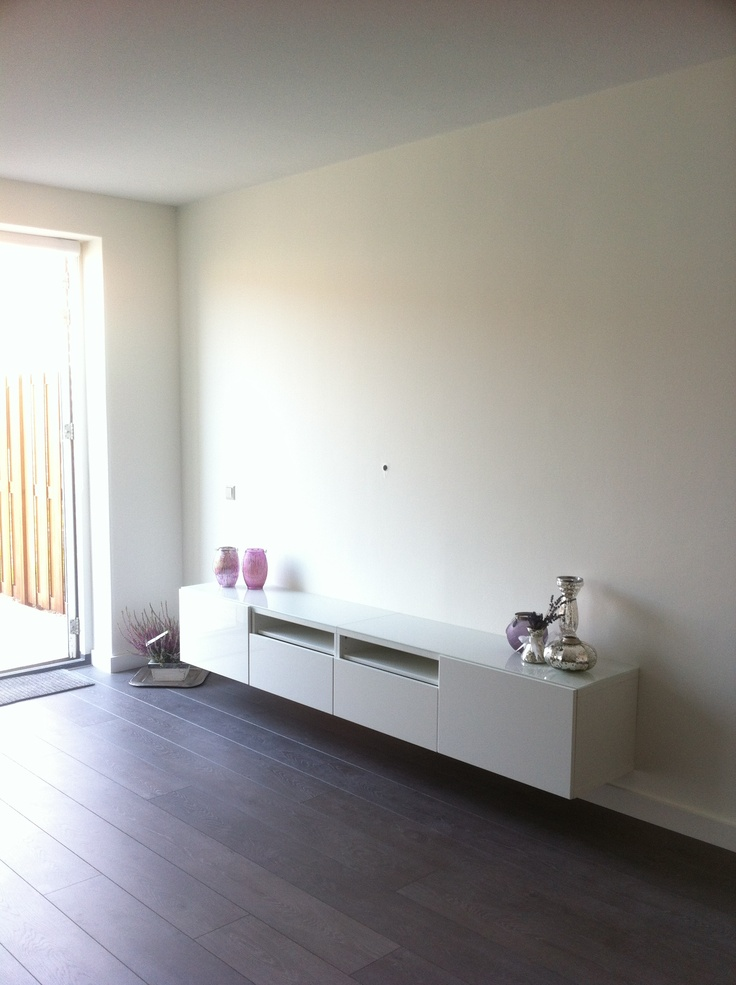 TV console with mercury glass
