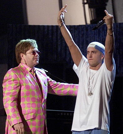 Elton John + Eminem at the 2004? grammys