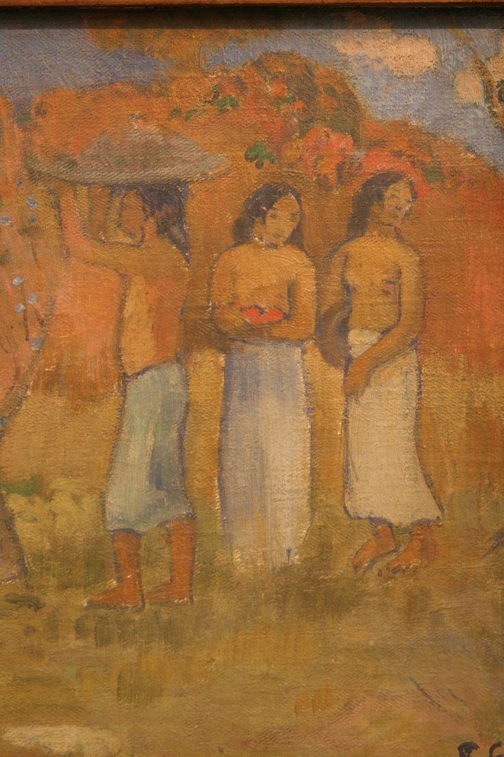 Eugène Henri Paul Gauguin (1848-1903) The Judgement of Paris, 1902, oil on canvas Trade Fair Palace, Prague (detail)