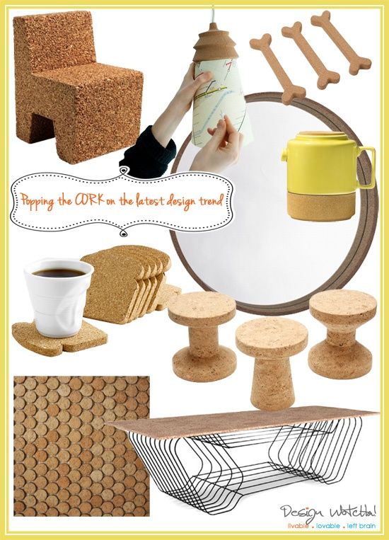 cork home accessories, cool eco friendly, renewable cork products for your home