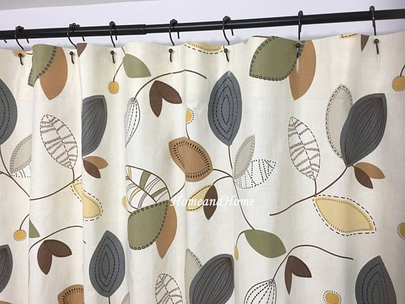 Shower Curtain Leaf Shower Curtain Fabric Shower Curtain 72 X 84