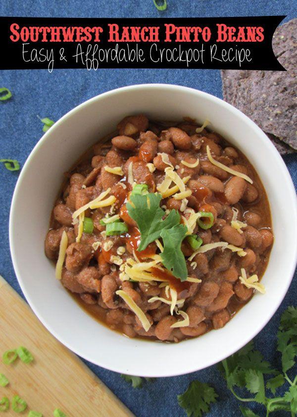 Southwest Ranch Style Beans (Crock Pot Pinto Beans ...