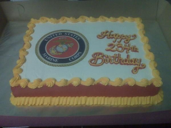 USMC Birthday Cake | United States Marines Corps Birthday Ca… | CoolCakes | Flickr