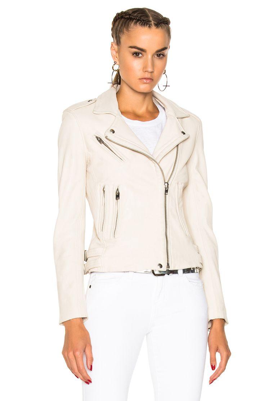 Image 2 Of Iro Han Leather Jacket In Ivory Jackets Athletic Jacket Long Sleeve Blouse [ 1112 x 736 Pixel ]