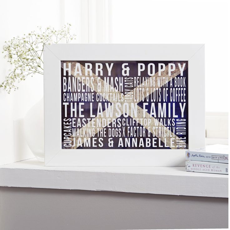 For our friends north of the border. Our Scotland the brave background with our family favourites design. See your design come to life as you type. From £14.99