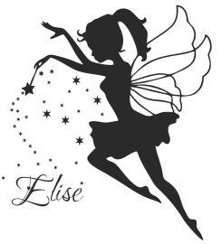 Voor Elise haar kamer?? Naamsticker Fee | MUURSTICKERS COLLECTIE | MUURSTICKERS /101WOONSTICKERS