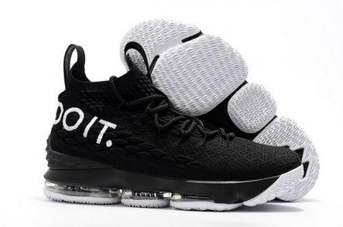 31ff79101e61 Original Nike LeBron 15 Just Do It Black White - Mysecretshoes