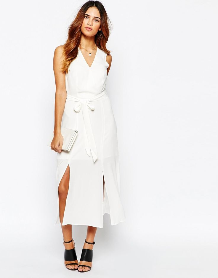 Warehouse Split Front Wrap Dress