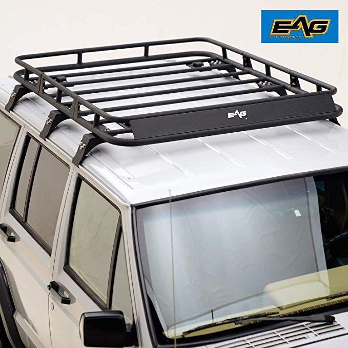 Amazon Com Eag Roof Rack Cargo Basket For 84 01 Jeep Cherokee Xj