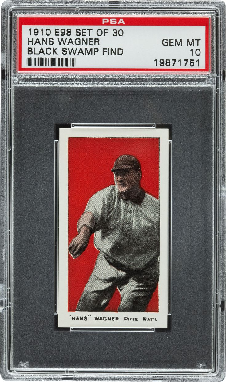 Unbelievable find. 1910 E98 Honus Wagner baseball card, perfect condition, hiding under a doll house. #blackswampfind