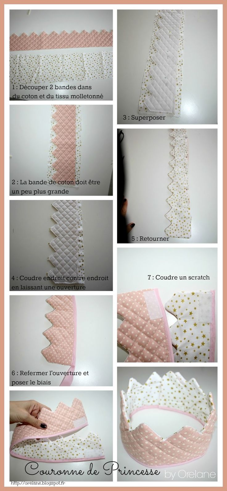♥ DIY : Couronne de princesse en tissu ♥  http://orelane.blogspot.fr/2013/06/diy-couronne-de-princesse-en-tissu.html