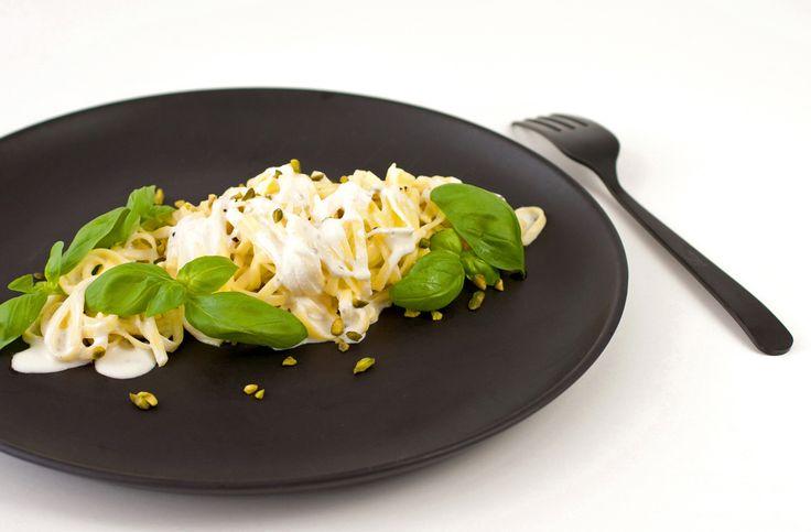 Pasta al Limone: Pasta Zitronensauce Basilikum Pistazien