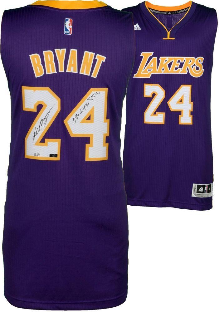 b7f9500faa9b Kobe Bryant Lakers Signed Purple Swingman Jersey   33