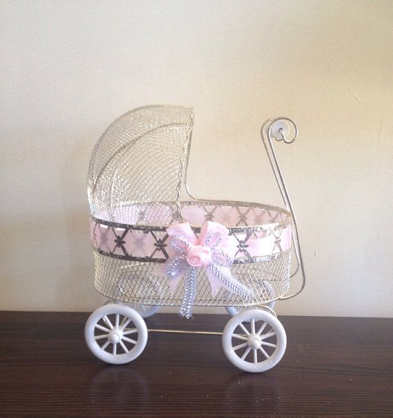 Carriage stroller centerpiece baby shower decor on etsy for Baby carriage decoration