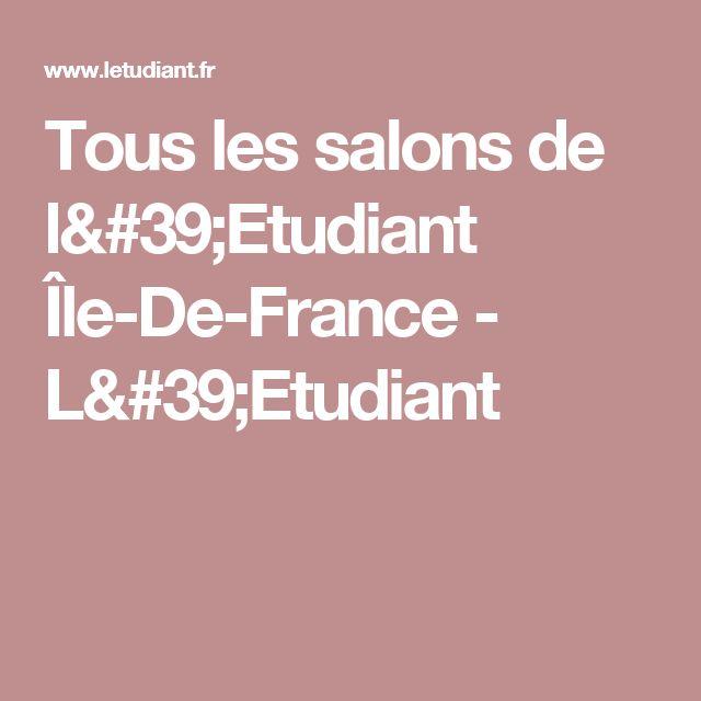 Tous les salons de l'Etudiant Île-De-France - L'Etudiant