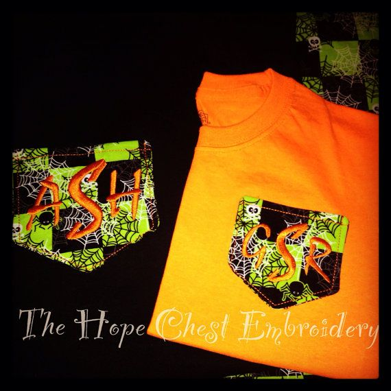 Long Sleeve Halloween Pocket T's for Women by HopeChestEmbroidery, $25.00