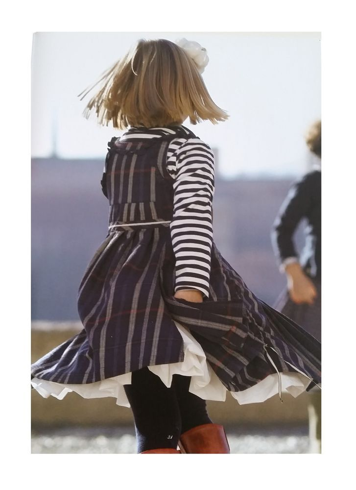 Jottum Good Condition beautiful striped winter dress Silke 116 6 Y